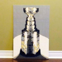"Load image into Gallery viewer, Lego Mosaic ""The Stanley Cup"" by Jack Ferdman w/CA"