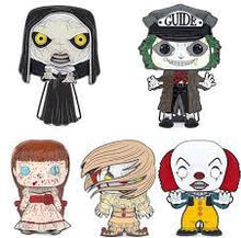 Load image into Gallery viewer, Large Enamel Funko Pop! Pin: Horror - The Nun (Demonic) #02
