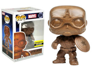 Captain America Wood (Entertainment Earth) Funko Pop #584