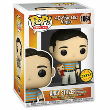 Load image into Gallery viewer, Andy - Holding Oscar (40 Year Old Virgin) Special Edition CHASE Funko Pop #1064