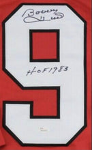 Load image into Gallery viewer, SIGNED Bobby Hull Chicago Black Hawks Jersey (w/COA)