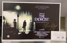"Load image into Gallery viewer, SIGNED 17"" x 11"" The Exorcist Poster by Linda Blair w/COA"