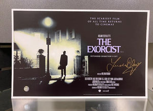 "SIGNED 17"" x 11"" The Exorcist Poster by Linda Blair w/COA"