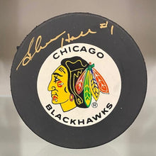 Load image into Gallery viewer, SIGNED Glenn Hall (Chicago Black Hawks) Puck (w/COA)