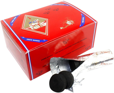 Three King Charcoal -33 mm Premium Hookah  Coals