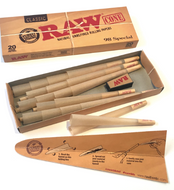 RAW Classic Natural Unrefined Pre Rolled Cones (20 Cones Per Pack) - 98 Special Size