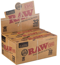 Load image into Gallery viewer, Raw Classic Cones King Size Pre Rolled Cone - 32 Pack