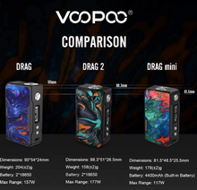 Load image into Gallery viewer, VooPoo Drag Mini 117W Box Mod