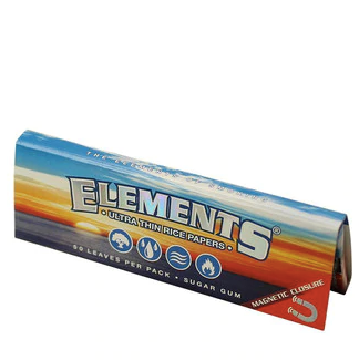 Elements 1 1/4 Slow Burn -Ultra Thin Rice Rolling Paper - Magnetic Closure