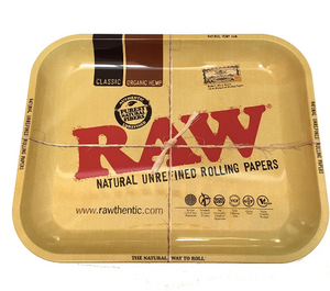 Raw Metal Rolling Tray - Large