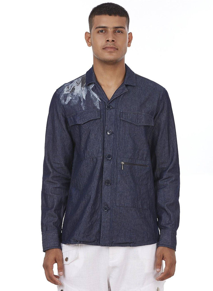 LANDON PRINTED DENIM JACKET - Genes online store 2020