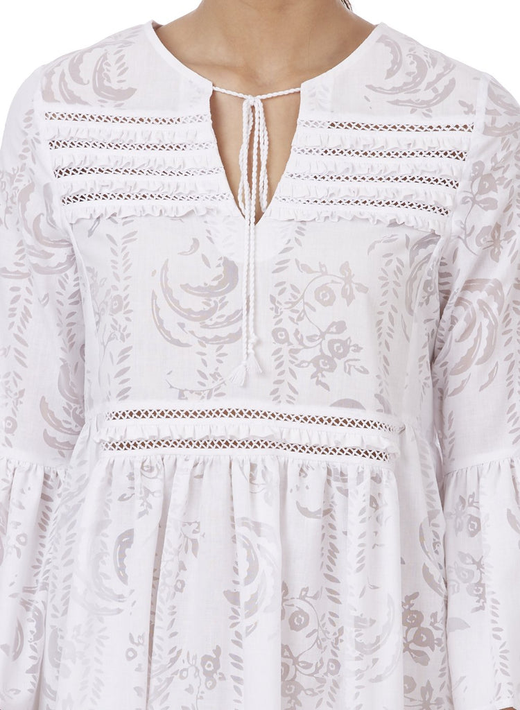MAIA EMBROIDERED DRESS - Genes online store 2020