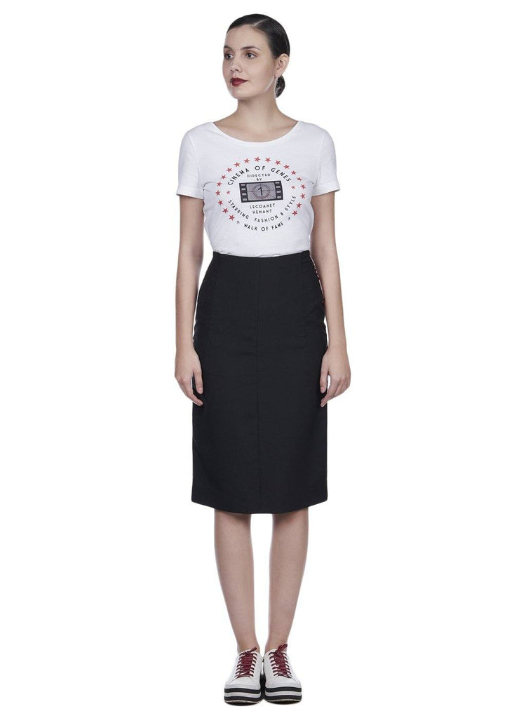 WALK OF FAME PLEATED SKIRT - Genes online store 2020