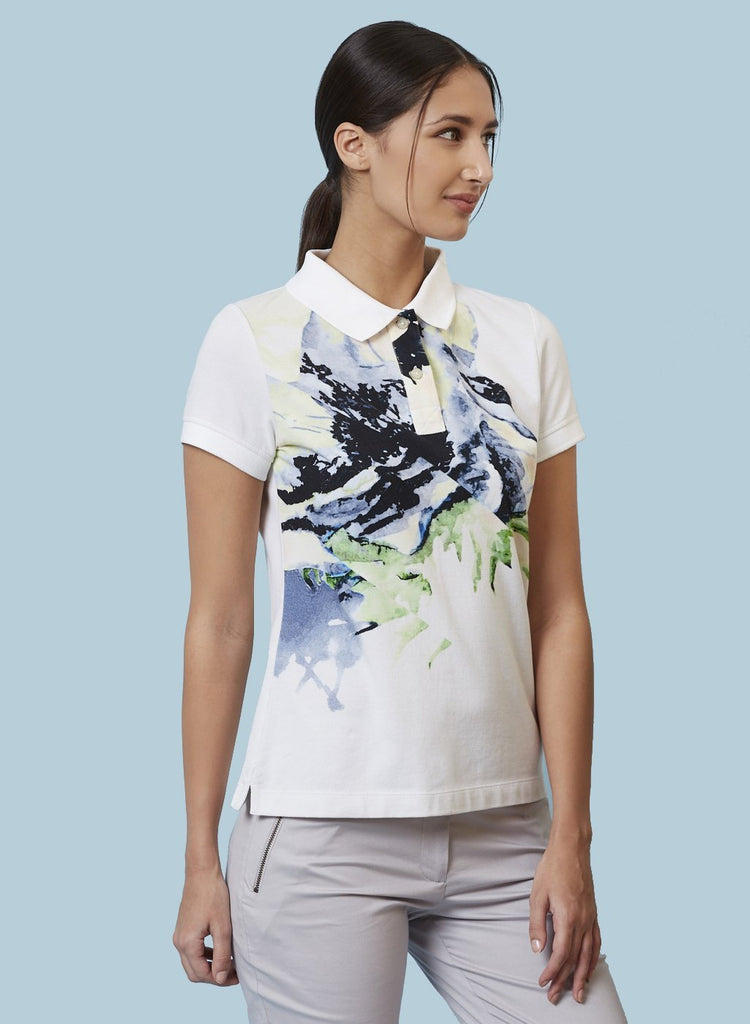 TESSA FLORAL PRINTED POLO SHIRT - Genes online store 2020