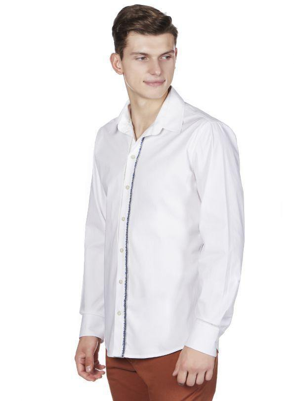 CITY CHARMER WHITE BUTTON DOWN SHIRT - Genes online store 2020