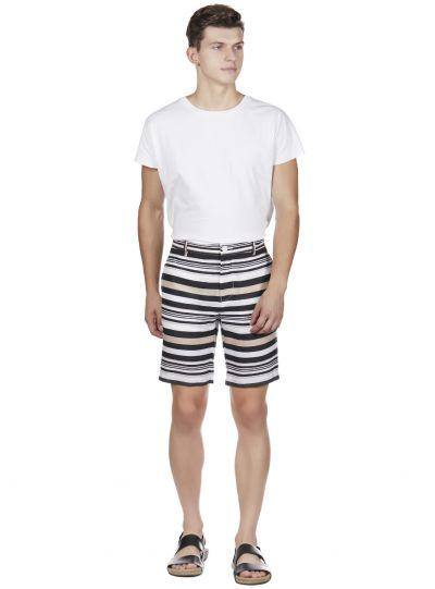 SHADES OF SUMMER STRIPED SHORTS - Genes online store 2020