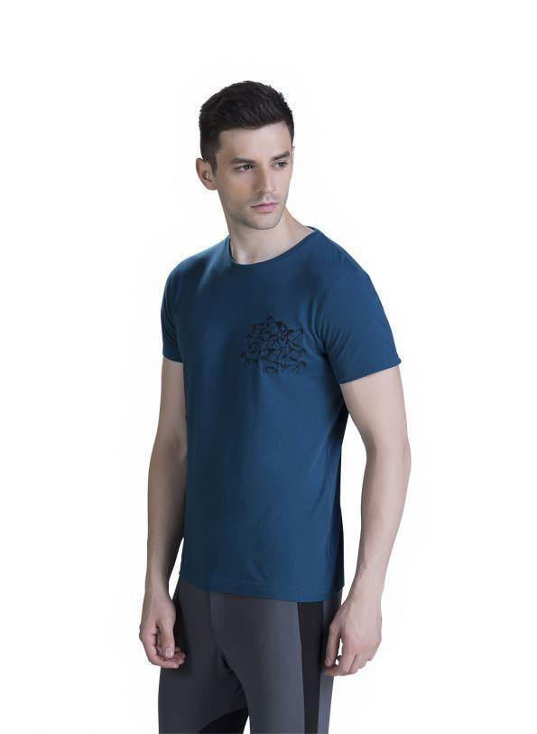 EMBROIDERED EQUESTRIAN TEE - Genes online store 2020
