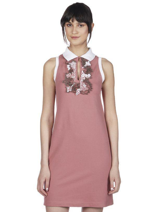 CLOUDY RUFFLED POLO DRESS - Genes online store 2020