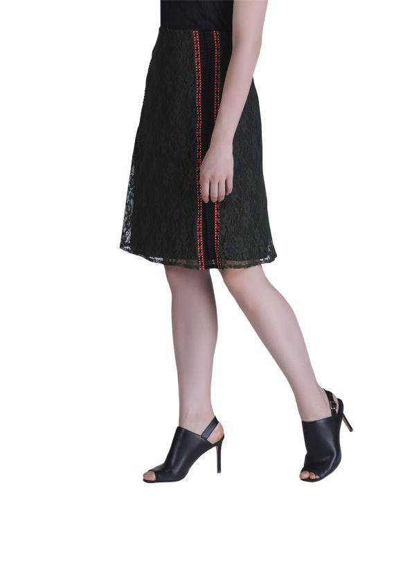 RED LACED WOMEN'S SKIRT - Genes online store 2020