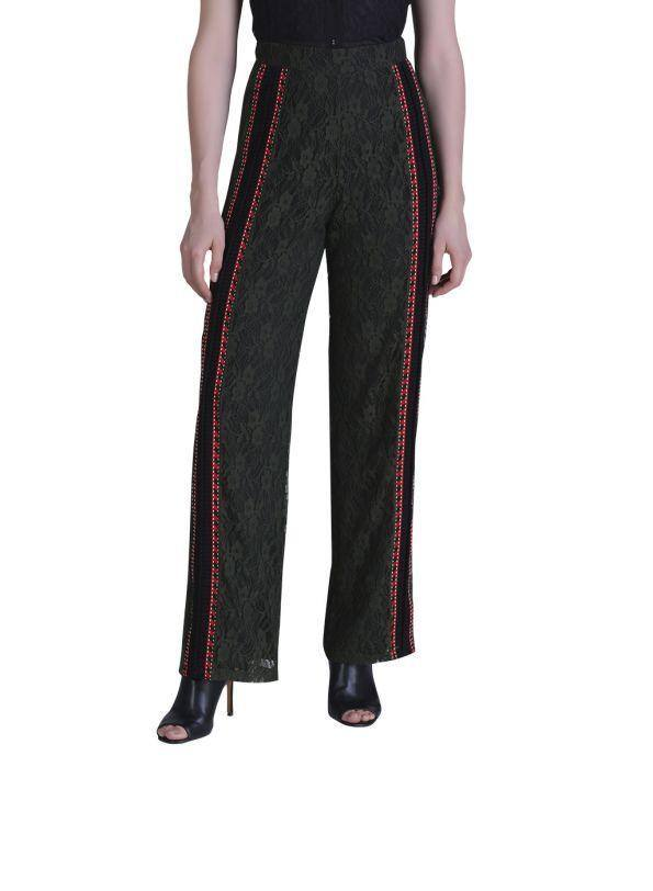 RED LACED WOMEN'S TROUSER - Genes online store 2020