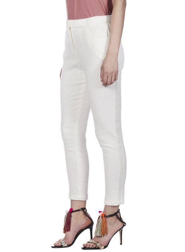 SUMMER GLORY TEXTURED TROUSERS - Genes online store 2020