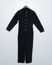 Load image into Gallery viewer, Black Denim Jumpsuit
