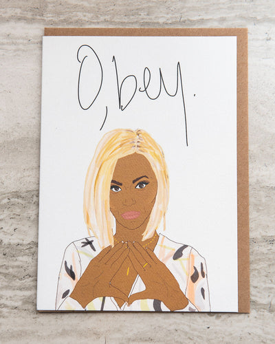 O'bey Greeting Card