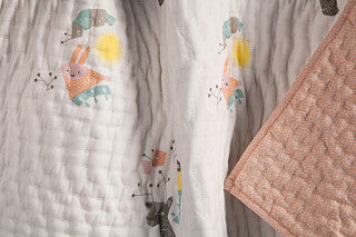 Menagerie Organic Cotton Hand-Quilted Blanket