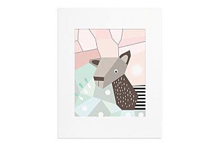 Menagerie Cubist Art Print - Deer 11 x 14