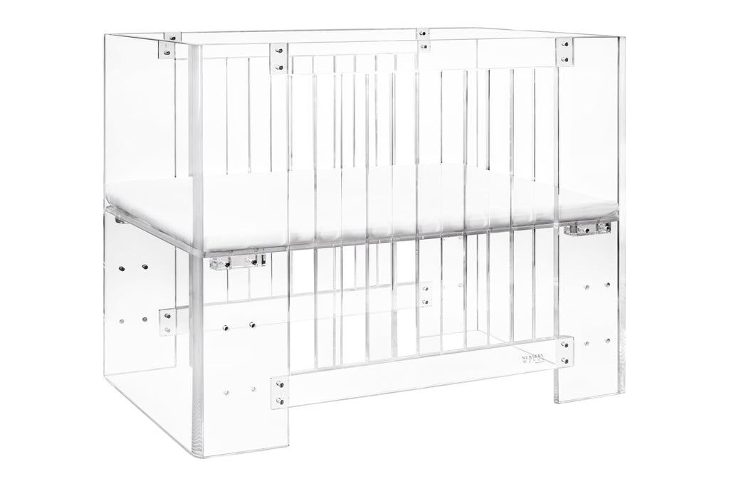nursery works vetro mini crib acrylic
