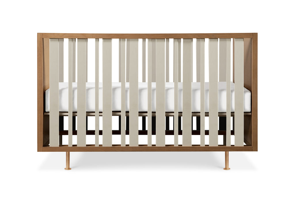 NW15001AY,Novella Crib w/Toddler Bed Conversion Kit in Stained Ash/Ivory