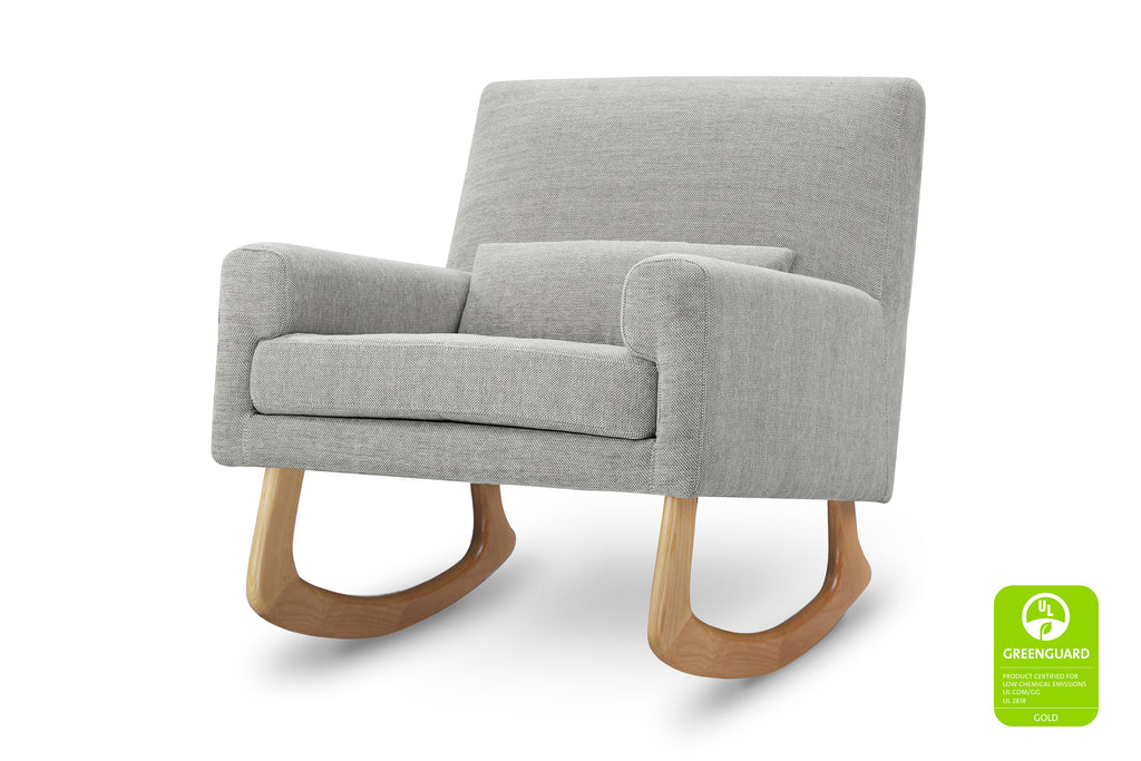 1085FWLGL,Sleepytime Rocker in Light Grey Weave with Light Legs