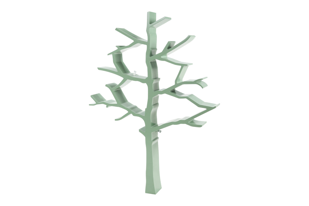 NW8126S,Tree Bookcase In Sage Green Finish