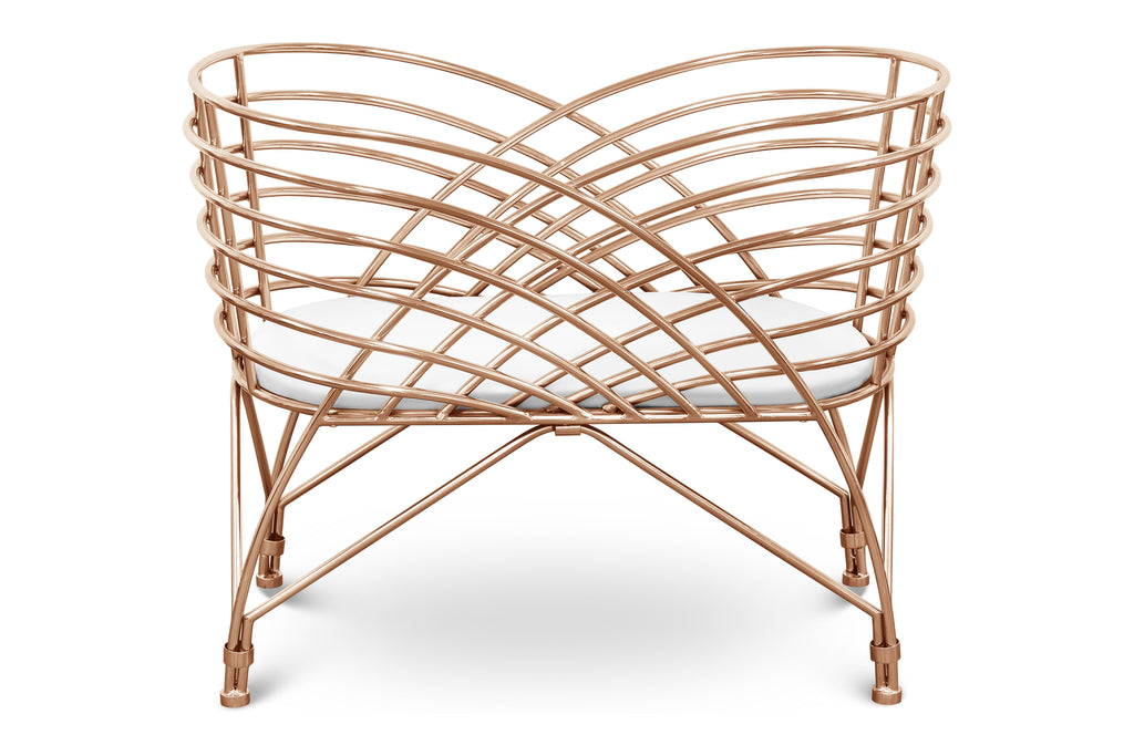 NW16734RGLD,Aura Metal Bassinet in Rose Gold