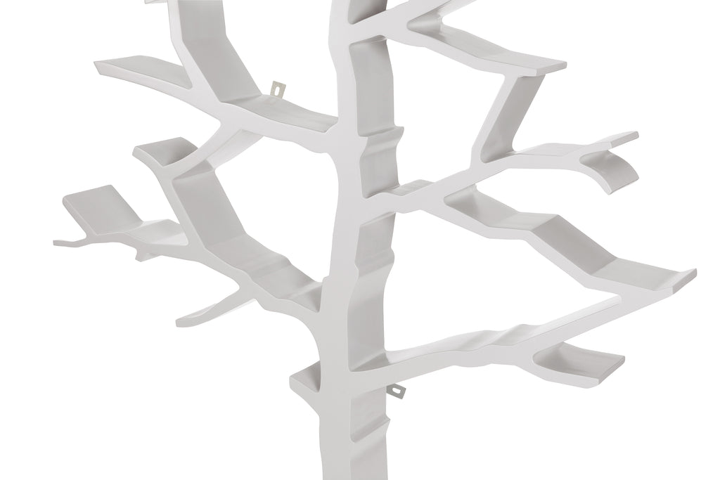 NW8126DG,Tree Bookcase in Cloud Grey Finish