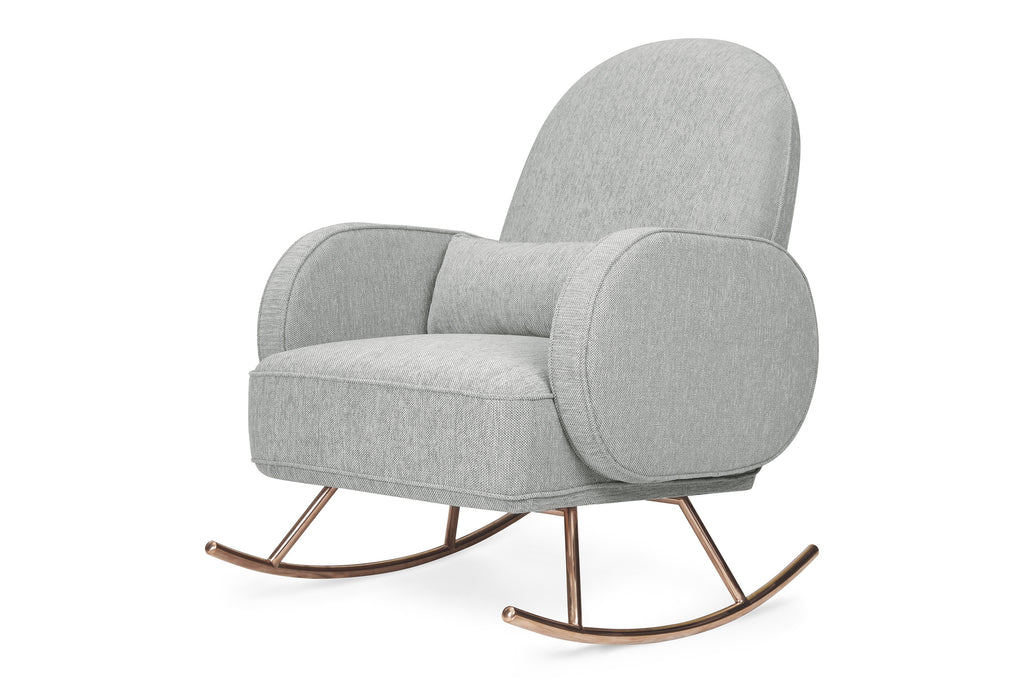 Nursery Works Compass Rocker with rose gold Light Grey Weave