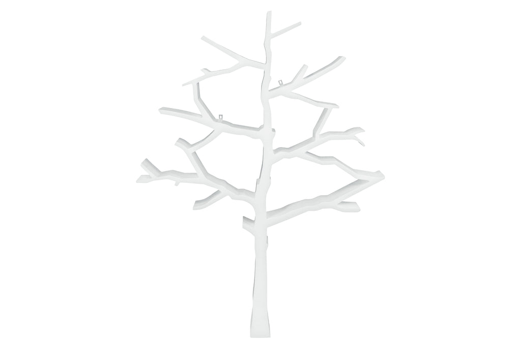 8126W,Tree Bookcase in White Finish