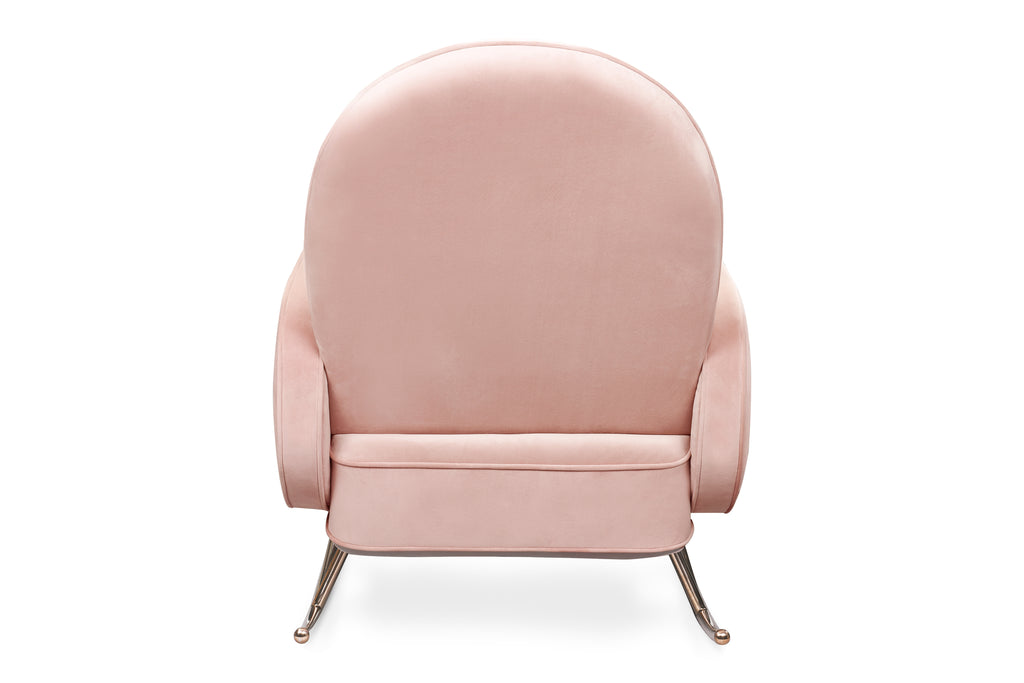 NW17087BPV,Compass Rocker in Blush Velvet with Rose Gold Legs