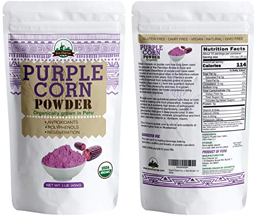 Organic Purple Corn Powder flour from Peru- Maiz Morado 1 Lb Wholesale