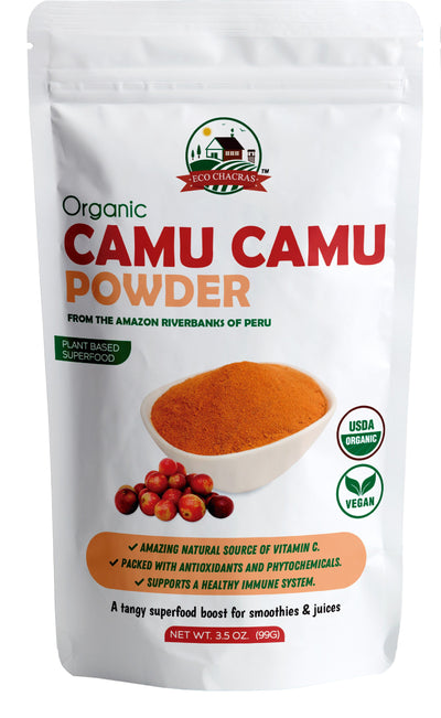 Camu Camu Powder ! Organic from Peru ( Natural Vitamin C ) Supports Energy and Immune System - Eco Chacras