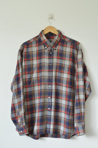 Blue and Red Flannel Shirts