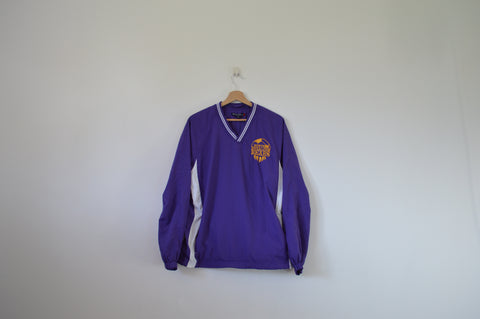 Purple V Neck Pullover Jacket