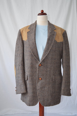 Tweed Jacket With Patches