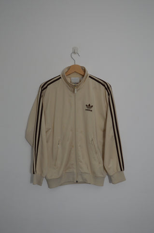 Adidas Cream and Brown Jacket