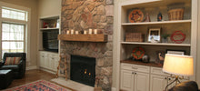 Load image into Gallery viewer, Barnwood Fireplace Mantel