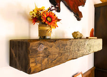 Load image into Gallery viewer, Rustic wood wall shelf