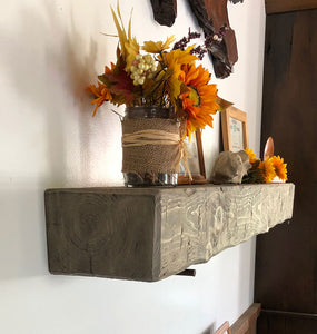 Amish made real wood reclaimed barn shelf