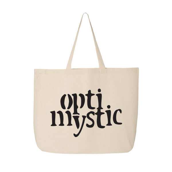 OPTIMYSTIC JUMBO CANVAS TOTE - NATURAL WITH BLACK