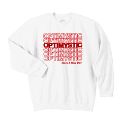 OPTIMYSTIC LOGO WHITE SWEATSHIRT