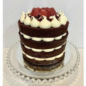 Vegan Red Velvet tiered cake - Littlecupcakes